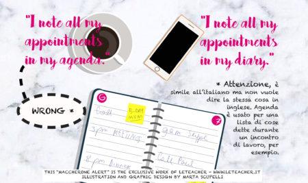 Maccherone Alert #11 Agenda vs Diary